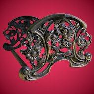 Antique Art Nouveau Metal Expandable Book Rack