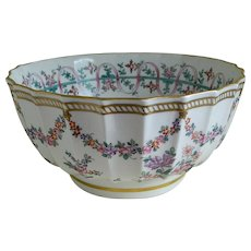 20th Century France Large Bowl Made in the Manner of Samson 18th Century Style