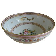 Vintage Limoges France Large China Bowl, 20th Century