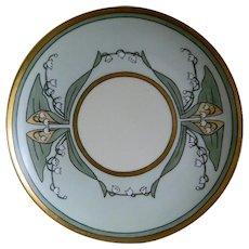 Antique Haviland Limoges Hand Painted Plate Artist Signed, Jennings