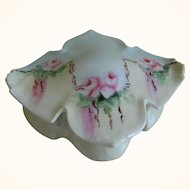 Antique R S Germany Hand Painted Porcelain Dresser Box, Early 1900's