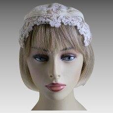 Vintage Ivory Lace Juliet Cap Veil