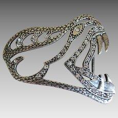 Vintage Italian Snake Head Belt Buckle