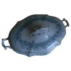 Antique Oval Serving Bowl with Lid, England