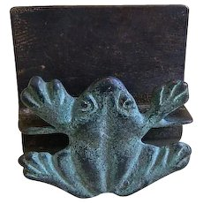 Vintage Frog Business Card Holder