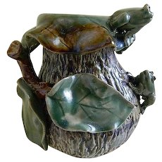 Vintage Frog Pottery Vase or Planter