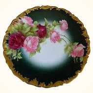 Antique Tressemann and Vogt Plate Signed Rozy Well Known Limoges Artist