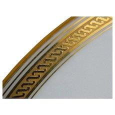 Grecian by Richard Ginori Italia Gold Encrusted Rim Plates, Set of 6