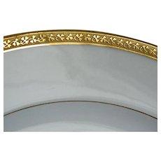 Antique GDA Limoges France Gold Encrusted Plates, Set of 6