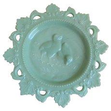 Vintage Westmoreland Glass Company Chick Jadeite Plate