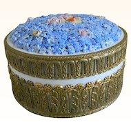 Antique German Large Elfin Ware Ormolu Dresser or Vanity Jar