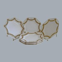 Vintage German Octagonal Plates, Set of 6