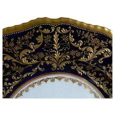 Antique Rare Royal Doulton, Herbert Betteley, Intricate  Gold EncrustedPlates. Set of 4