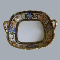 Morimura, Nippon Hand Painted Square Bowl with Handles