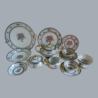 Unique C. Ahrenfeldt Limoges France, Set of 93 pieces