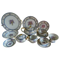 Unique C. Ahrenfeldt Limoges France, Set of 93 pieces
