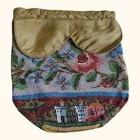 Antique 19th Century Handmade beaded purse
