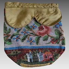 Antique 19th Century Handmade beaded purse