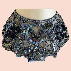Vintage 1970's  Iridescent Sequin Collar