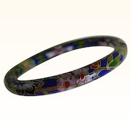 Vintage Cloisonne Bangle Bracelet