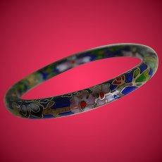 Vintage Cloisonne Bangle Bracelet