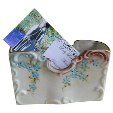 R S Germany Hand Painted Card Holder