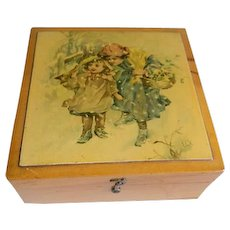 Antique 1894 Brook's Spool Cotton Box