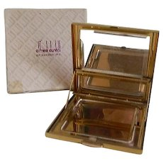 Vintage Alfred Dunhill of London Windshield Wiper Clearview Gold Tone Compact in Original Box