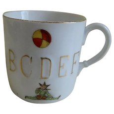 Antique 1890's, Germany,  Child's Alphabet Cup