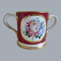 Antique, 1883, Porcelain Loving Cup with Presentation Inscription, England