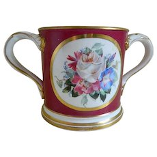 Antique, 1883, Porcelain Loving Cup with Presentation Inscription, England