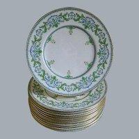 Mintons, England, Set of 12 Plates, 1917