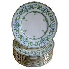 Mintons, England, Set of 12 Plates, 1917