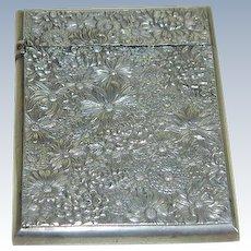 Victorian Sterling Silver Carnet  de Bal or Card Holder