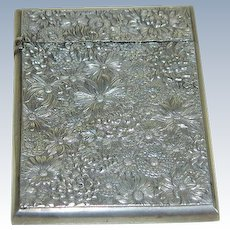 Victorian Sterling Silver Carnet  de Bal or Card Holder