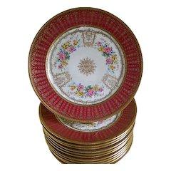 Holiday Sales!  C. Ahrenfeldt, Limoges, Set of 12 Plates, 1894 until 1930's