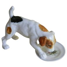 Vintage Royal Doulton Hand Made Jack Russell Dog Figurine - Red Tag Sale Item