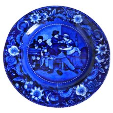 Antique 1820's Clew's Warranted Staffordshire, England Wilkie's Designs, The Valentine Plate