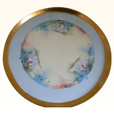 Antique Tray, T and V Limoges France Hand Painted Cherubs, Artist Signed