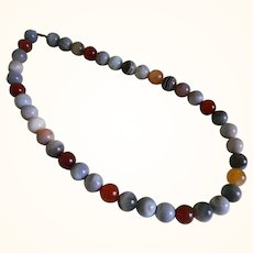 Agate Beaded Vintage Necklace