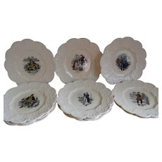 Set of 11, Charles Dickens, Coalport Kings Ware Antique Plates