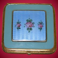 Art Deco Bliss Brothers Enamel With Guilloche Compact