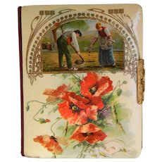 Victorian Photo Album with Celluloid Cover