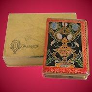Rare Art Deco Era Mondaine Cig-vanette compact and cigarette case