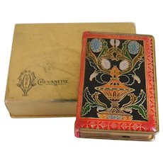 Rare Art Deco Era Mondaine Cig-vanette compact and cigarette case