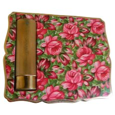 1950's Stratton, England Compact and Lipstick Holder