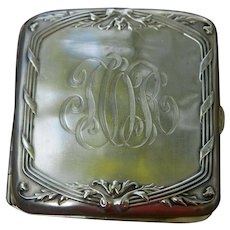 Art Nouveau Sterling Silver Cigarette Case.