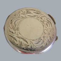 Vintage Sterling Silver Birk Powder Compact