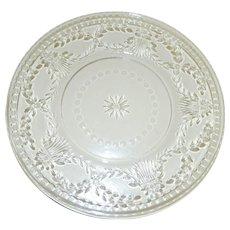 1920's Czech Cut Glass Plates, Set of 6