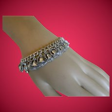 Vintage Bell Telephone Sterling Silver Charm Bracelet